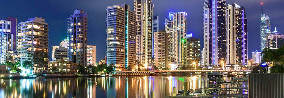 Gold Coast City, Night time